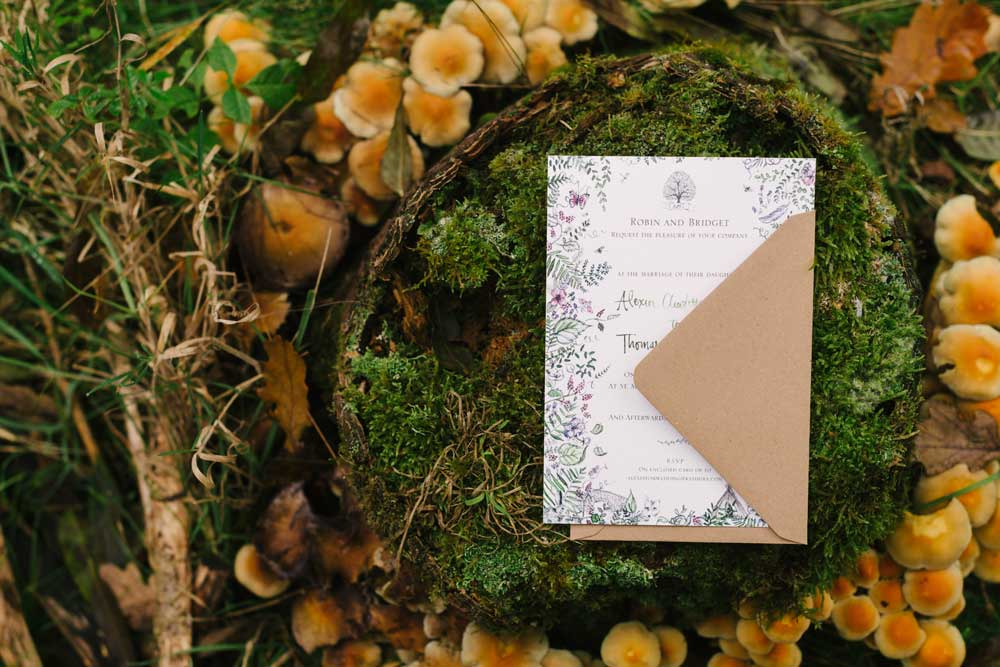 woodland wedding wedding invitation