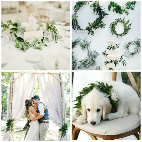 wedding decorations with foliage