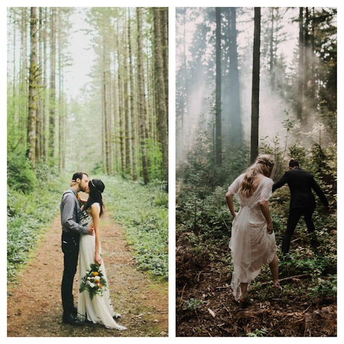 romantic weddings in woods
