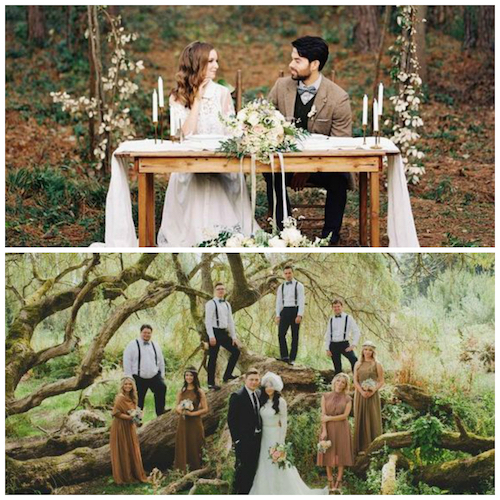 romantic woodland wedding