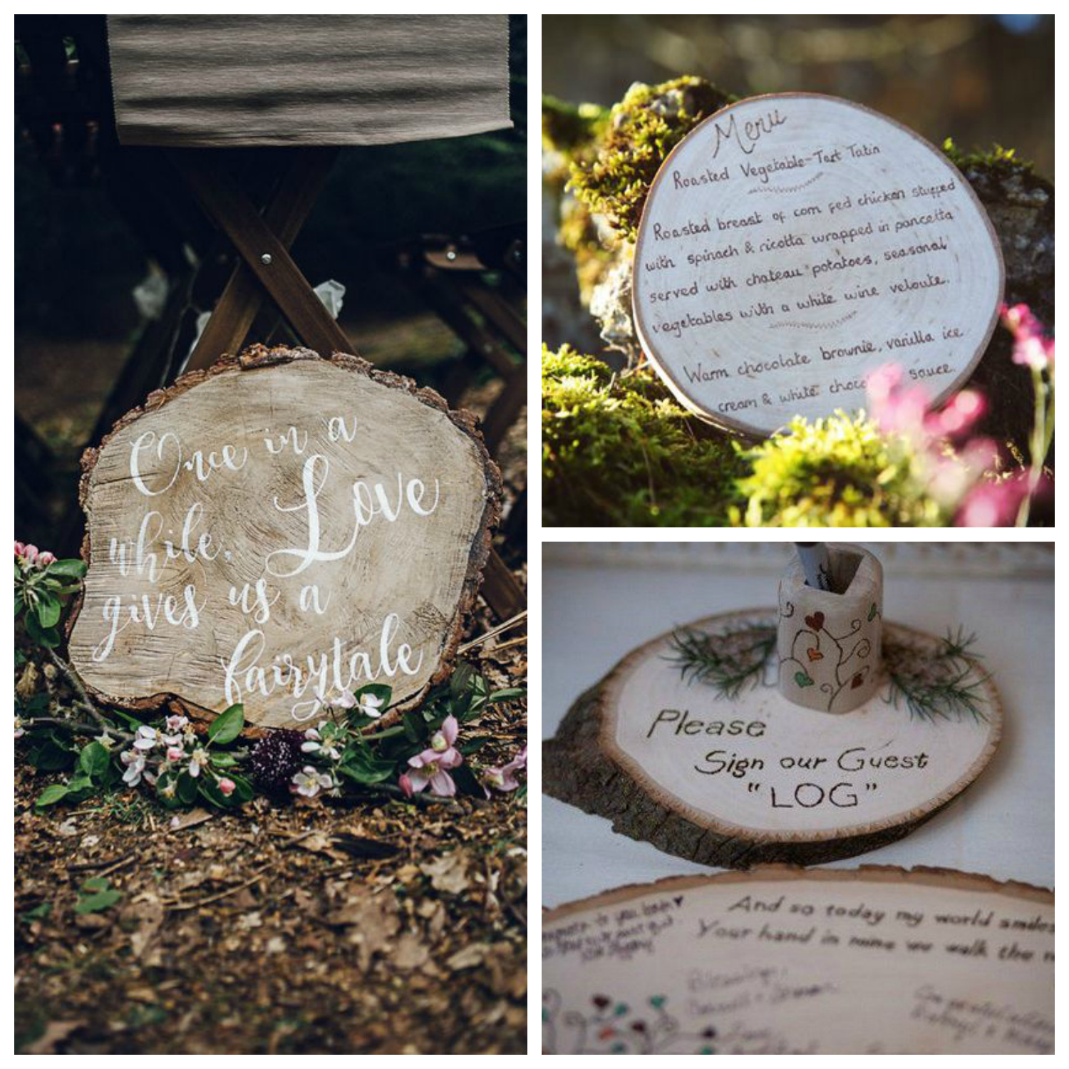 wooden wedding decorations