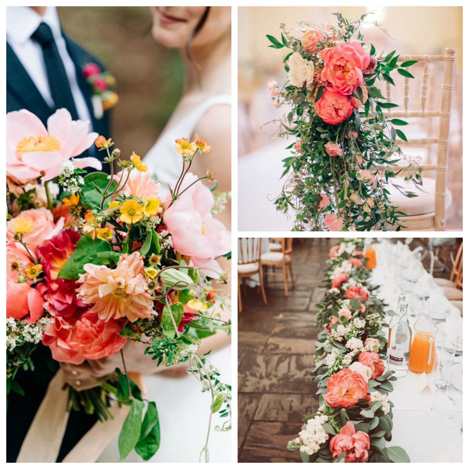 coral colour wedding