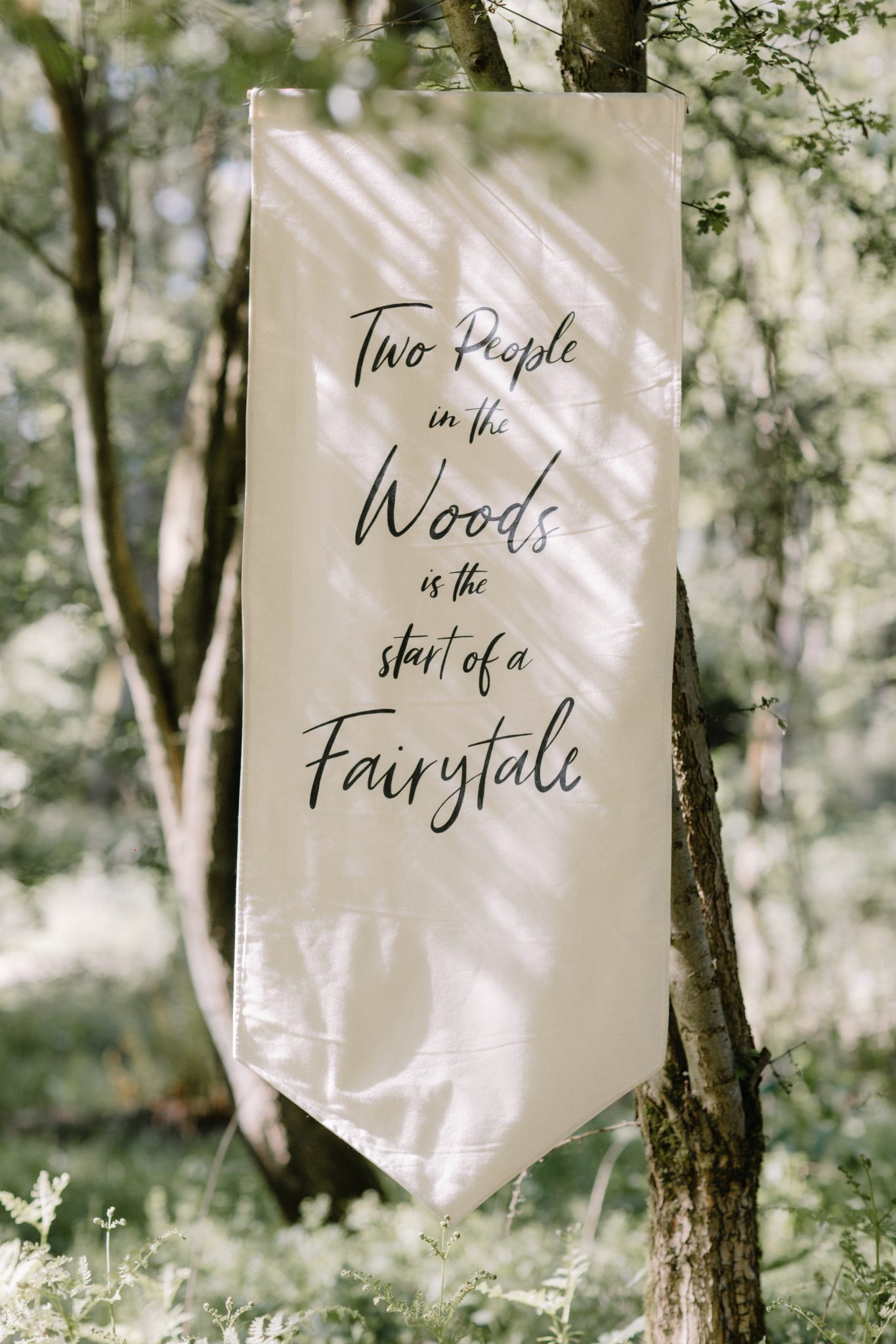 woodland wedding ceremonies banner