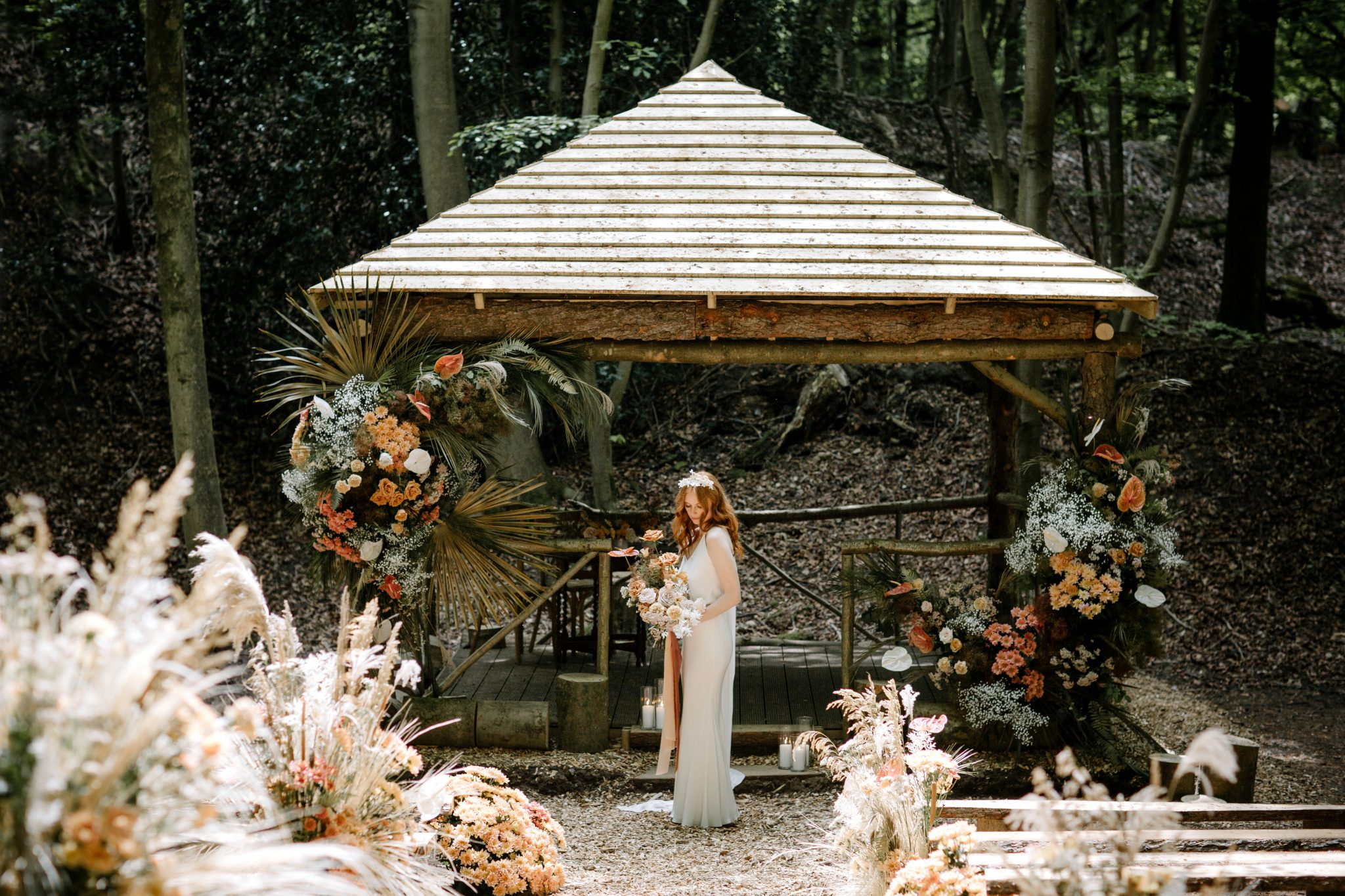 wedding ceremony at beech dell
