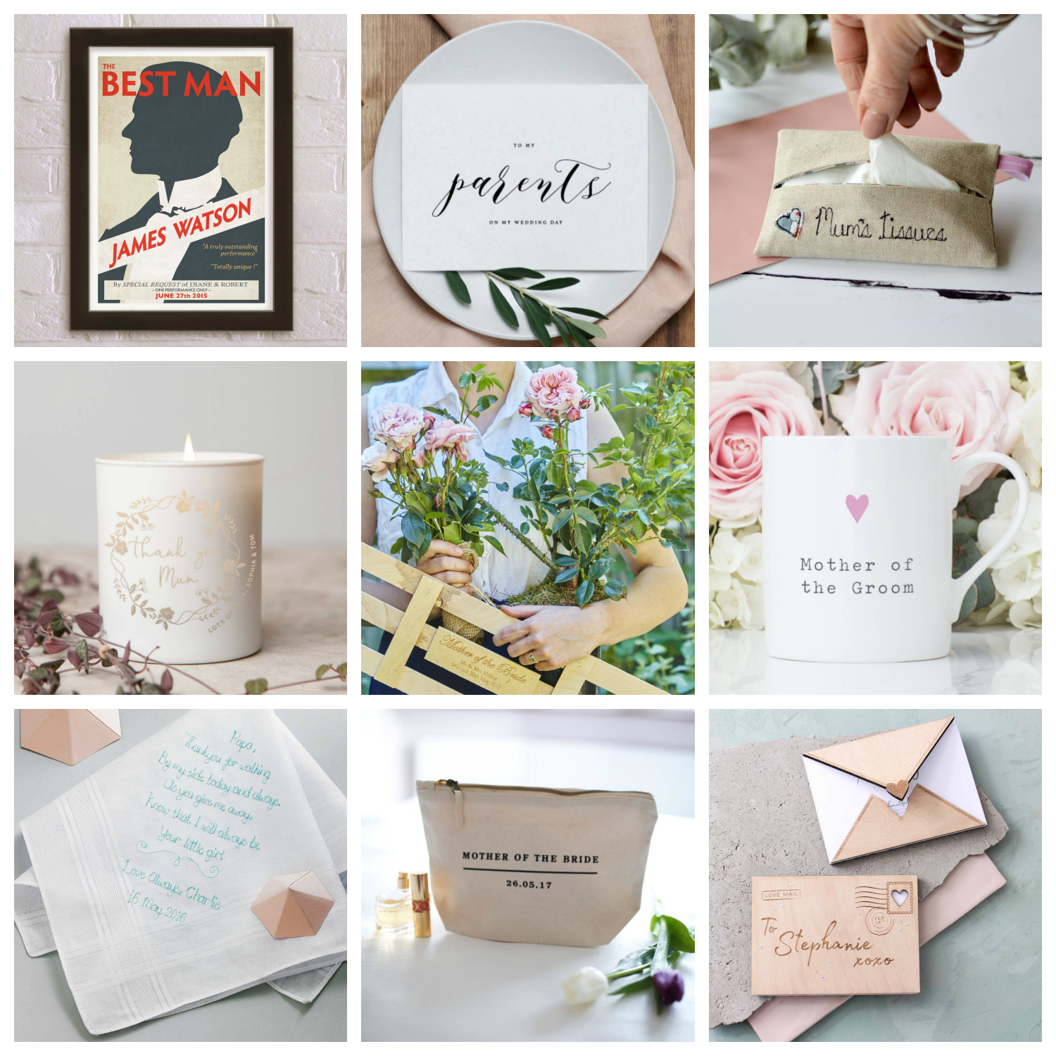 ideas for wedding thank you gifts