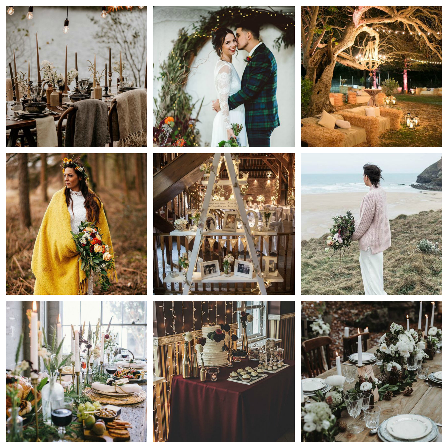 cosy winter wedding ideas